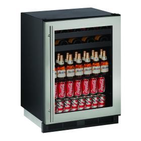 "1224bev 24"" Beverage Center With Stainless Frame Finish (115 V/60 Hz Volts /60 Hz Hz)"
