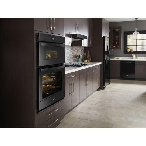 Whirlpool - 5.7 Cu. Ft. Smart Combination Wall Oven with Touchscreen Black