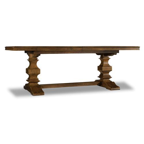 Hooker Furniture - Archivist Trestle Table w/2-18in Leaves