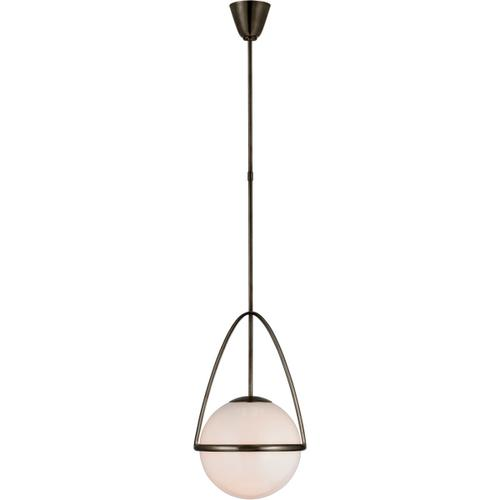 AERIN Lisette LED 13 inch Bronze Globe Pendant Ceiling Light, Medium