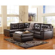 Alliston Chocolate Chaise Sofa