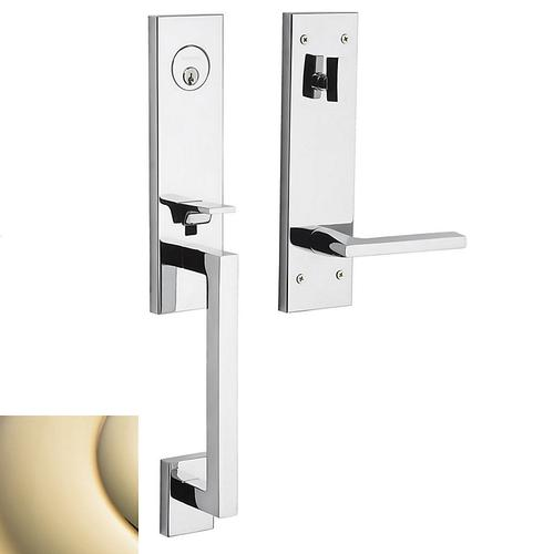 Lifetime Polished Brass Minneapolis 3/4 Escutcheon Handleset