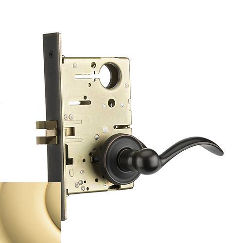 Baldwin - Non-Lacquered Brass Boulder Sectional Passage Set
