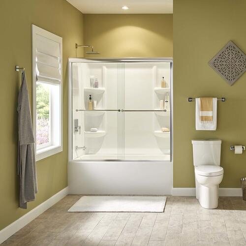 American Standard - Studio 60x30-inch Bathtub - Above Floor Rough-in with Built-in Apron - Left Drain  American Standard - White