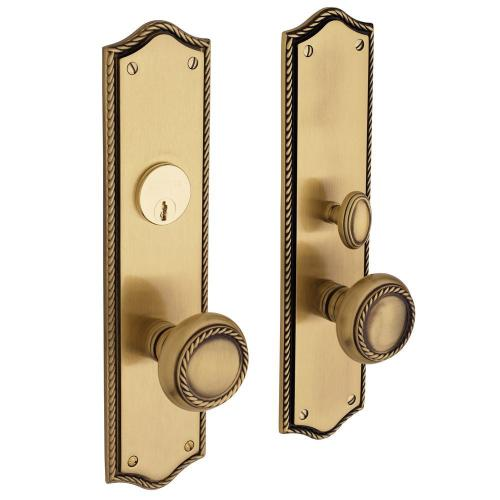 Satin Brass and Brown Barclay Entrance Trim