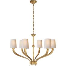 View Product - E. F. Chapman Ruhlmann 6 Light 35 inch Antique-Burnished Brass Chandelier Ceiling Light