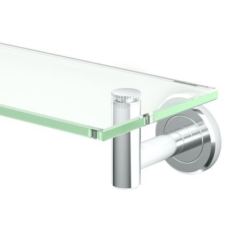 Latitude2 Glass Shelf in Chrome