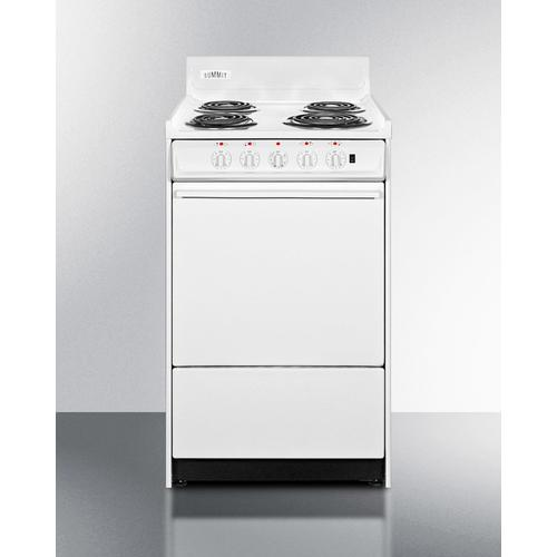 "20"" Wide Electric Coil Top Range"