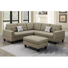 View Product - 3-pc Sectional W/2 Accent Pillow (ottoman Included)