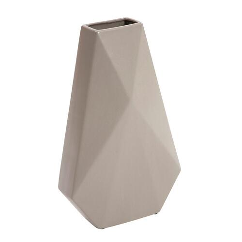 Howard Elliott - Geo Matte Stone Ceramic Vase, Large