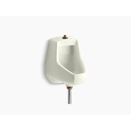 Biscuit Washdown Wall-mount 1/2 Gpf Urinal With Top Spud and Bottom Outlet for Exposed P-trap