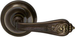 Interior Ornate Lever Latchset in (SB Shaded Bronze, Lacquered) Product Image