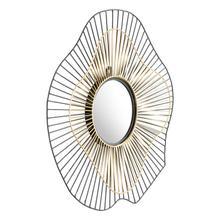 Comet Round Mirror Black & Gold