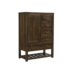 Standing Chest - 5 Drawers and 1 Door