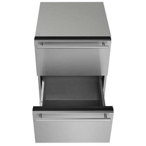 """U-Line - 24"""" Refrigerator Drawers With Stainless Solid Finish (115 V/60 Hz Volts /60 Hz Hz)"""