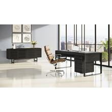 See Details - Corridor 6521 Desk in Charcoal Stained Ash