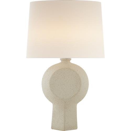 AERIN Nicolae 34 inch 100 watt Volcanic Ivory Table Lamp Portable Light, Large