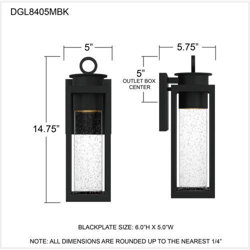 Quoizel - Donegal Outdoor Lantern in Matte Black
