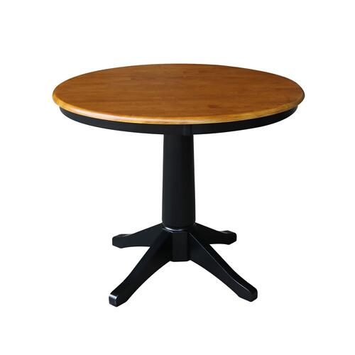 "36"" Pedestal Table in Cherry / Black"