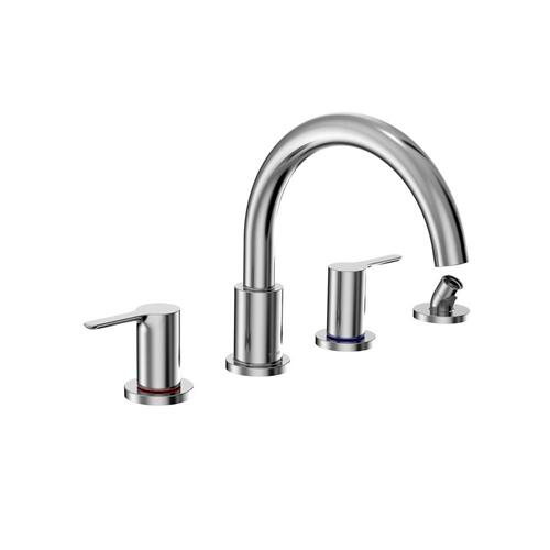 LB Four-Hole Roman Tub Filler Trim - Polished Chrome Finish