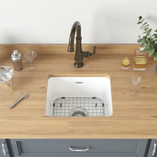 American Standard - Delancey® 18 x 16 Single Bowl Cast Iron Kitchen Sink  American Standard - Brilliant White