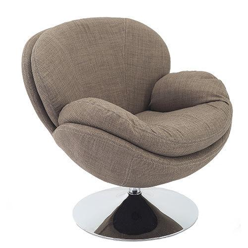 Scoop Leisure Accent Chair in Khaki Fabric