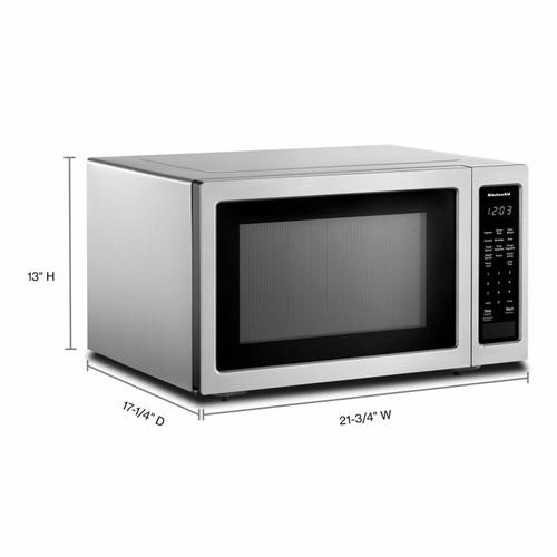 """KitchenAid - 21 3/4"""" Countertop Microwave Oven - 1200 Watt - Stainless Steel"""