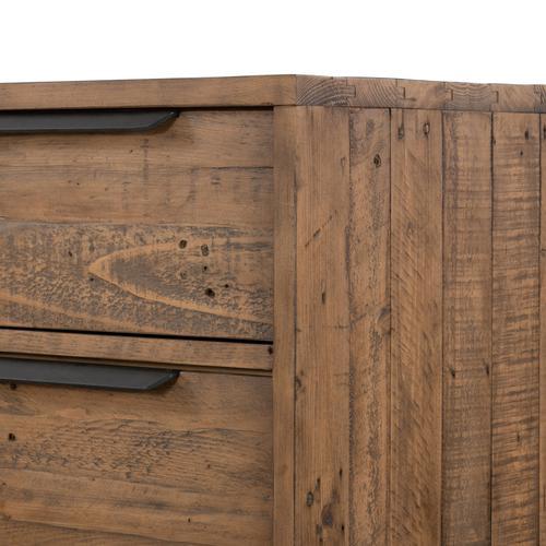 Rustic Sandalwood Finish Wyeth 5 Drawer Dresser