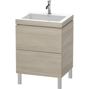 Furniture Washbasin C-bonded With Vanity Floorstanding, Pine Silver (decor)