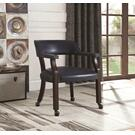 Traditional Blue Home Office Chair Product Image