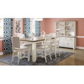 Dana Point Ext Counter Table W/(2) Ladderback Stools, (2) Uph Stools, Bench