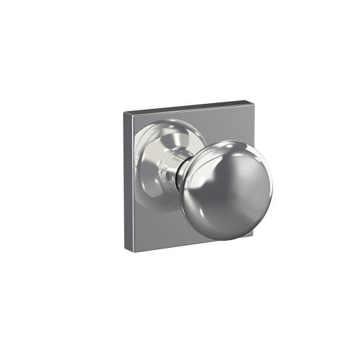 Custom Plymouth Non-Turning Knob with Collins Trim - Bright Chrome