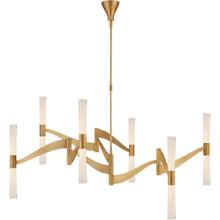 AERIN Brenta LED 54 inch Hand-Rubbed Antique Brass Chandelier Ceiling Light, Grande