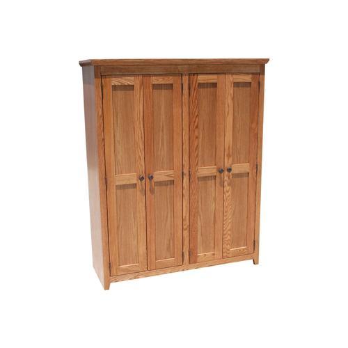 """Shaker Alder 48"""" Full Door Bookcase"""
