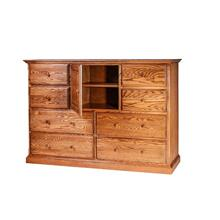 Forest Designs Traditional Oak Entertainment Chest: 60W x 41H x 18D - 48w