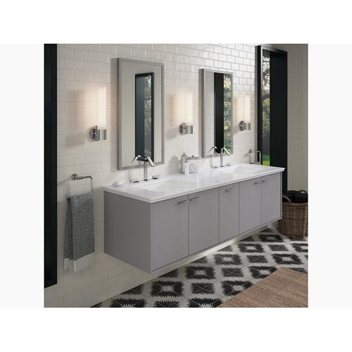"""Ice Grey Expressions 73"""" Vanity-top With Double Verticyl Rectangular Cutout"""