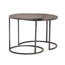 Antique Copper Clad Finish Catalina Nesting Tables