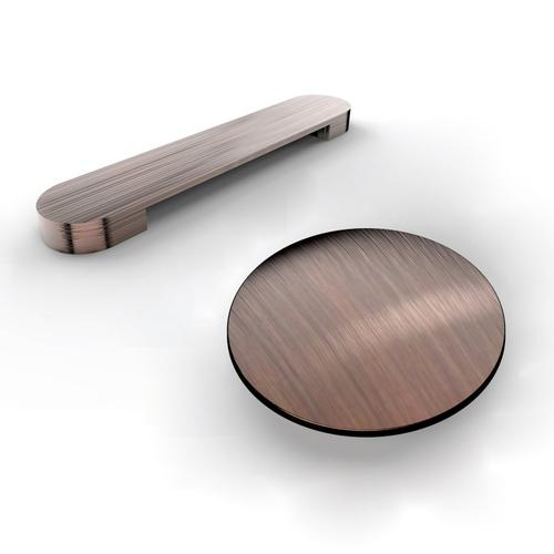 """Product Image - Milan 66"""" Acrylic Double Slipper Tub - Oil Rubbed Bronze Drain and Overflow"""
