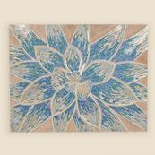 Blue Floral Mosaic Wall Hanging