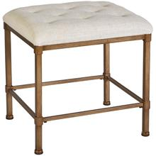 Katherine Vanity Stool, Golden Bronze