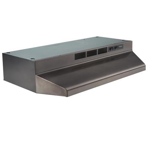Broan® 30-Inch Convertible Under-Cabinet Range Hood, 160 CFM, Black Stainless Steel