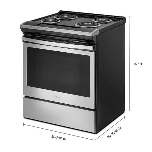 Gallery - 4.8 cu. ft. Guided Electric Front Control Coil Range