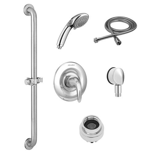 American Standard - Commercial Shower System with Hand Shower for Flash Rough Valve - 1.5 GPM  American Standard - Polished Chrome