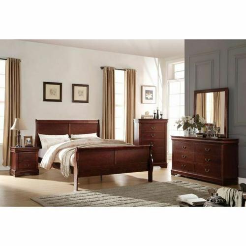 ACME Louis Philippe Eastern King Bed - 23747EK - Cherry