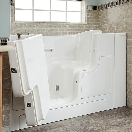 American Standard - Gelcoat Premium Series 30x52 Walk-in Tub with Outswing Door, Left Drain  American Standard - White