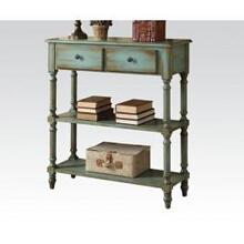 View Product - Antique Green Console Table