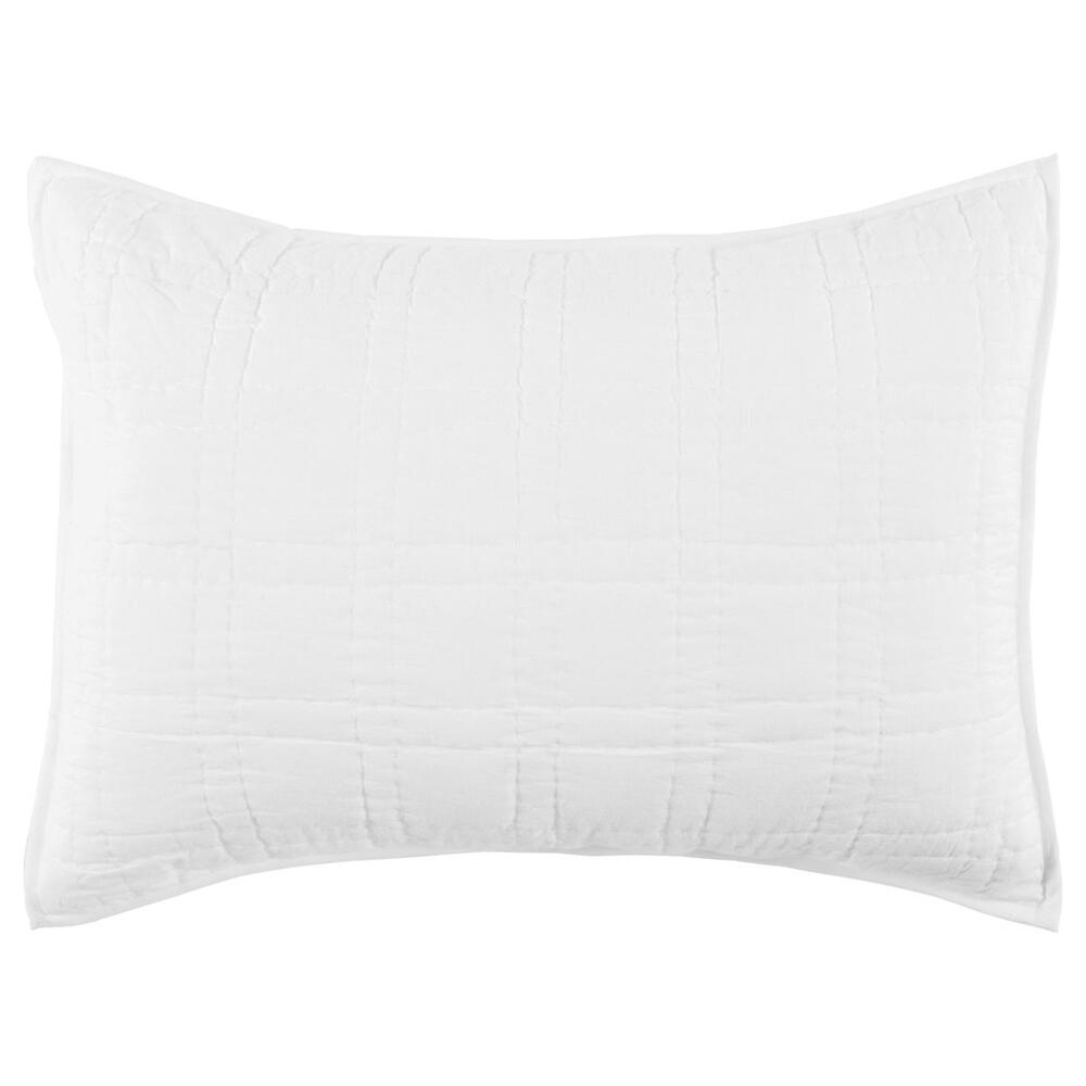See Details - Carly White Standard Sham with SILVADUR Tech