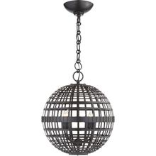 AERIN Mill 4 Light 16 inch Aged Iron Globe Lantern Ceiling Light, Small
