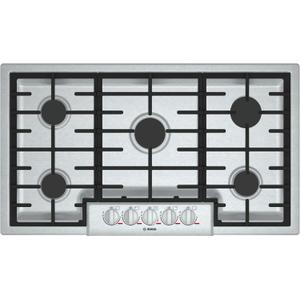 "BoschBENCHMARK SERIESBenchmark 36"" Gas Cooktop, 5 Burners, Stainless Steel"