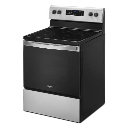 Whirlpool - 5.3 cu. ft. Whirlpool® electric range with Frozen Bake™ technology.